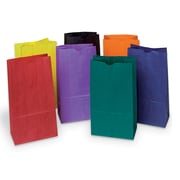"Pacon Corporation PAC72140 Assorted Rainbow Bright Kraft Bag, 11"" x 6"", 28/Pack"