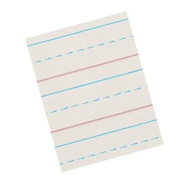Pacon - Papier journal à ligne du milieu tiretée de Zane Bloser, 3e année, ligne 1/2 à 1/4 po, 1500/paquet (PACZP2613)