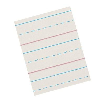 Pacon® Zaner-Bloser™ Broken Midline Newsprint Paper, Grades 3rd, 1/2