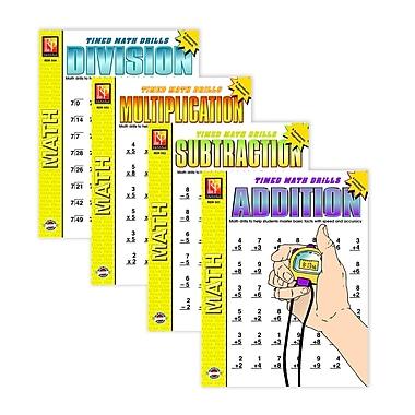 Remedia - Ensemble de livres Timed Math Drills, 4/paquet, 3e à 6e année
