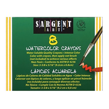 Sargent Art Watercolour Crayon, 8/box, 32/Pack (SAR221108)