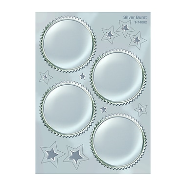 Trend Enterprises Award Seals Stickers, Silver Burst, 192/Pack (T-74002)