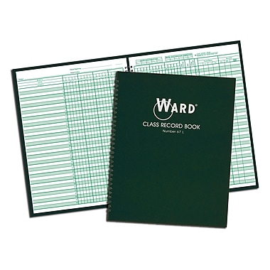 Ward® Class Record Book (For 6 Or 7 Week Grading Periods)