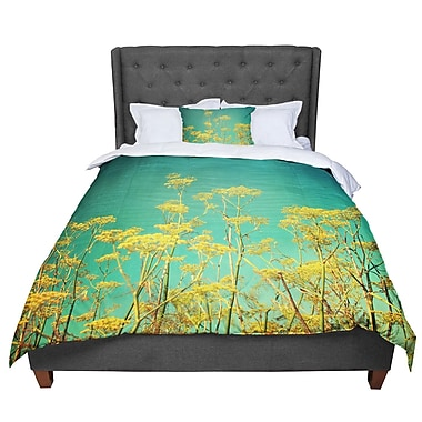 East Urban Home Sylvia Cook Flowers Sky Comforter; King