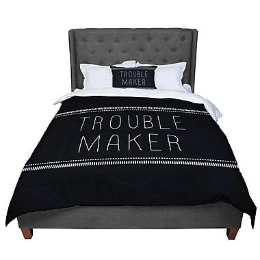 East Urban Home Skye Zambrana Trouble Maker Comforter; Queen