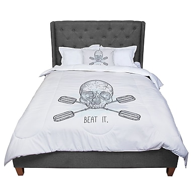 East Urban Home Sam Posnick Beat It Illustration Comforter; Twin