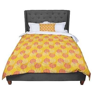 East Urban Home Apple Kaur Designs Wild Summer Dandelions Circles Comforter; Twin