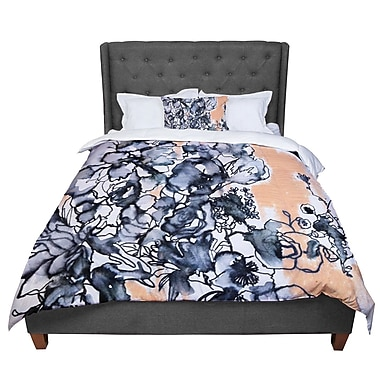 East Urban Home Sonal Nathwani Inky Bouquet Comforter; King