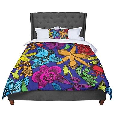 East Urban Home Yenty Jap Lovely Orchids Comforter; Queen