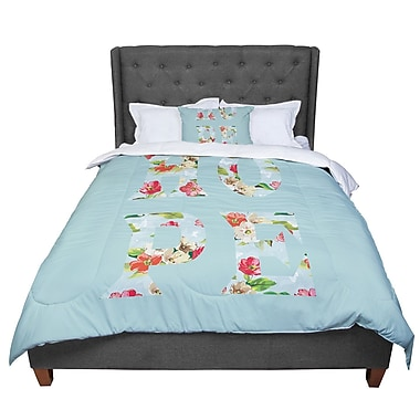 East Urban Home Suzanne Carter Hope Floral Comforter; Twin