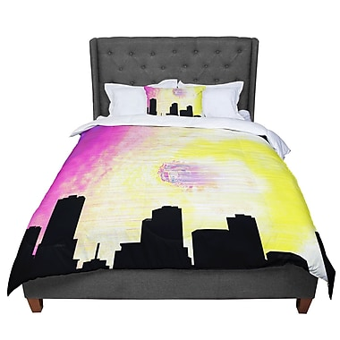 East Urban Home Infinite Spray Art Skylined Comforter; Twin