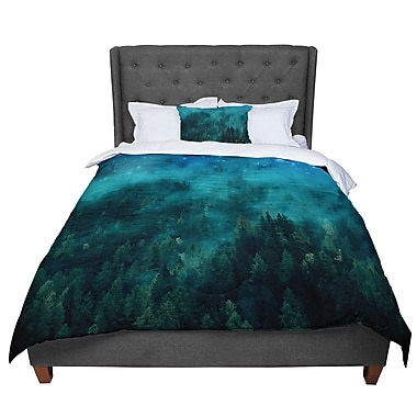 East Urban Home 888 Design Forest Night Digital Comforter; King