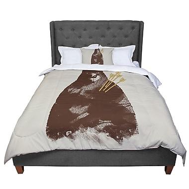 East Urban Home Tobe Fonseca in Love Bear Comforter; Queen