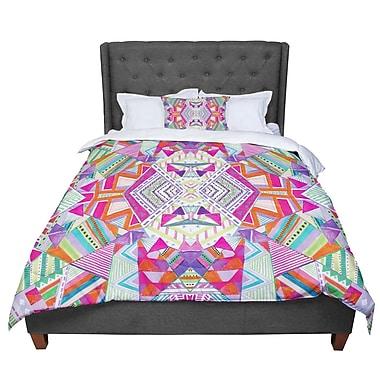 East Urban Home Vasare Nar Carrousel Geometric Rainbow Comforter; Queen