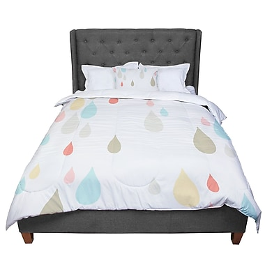 East Urban Home Very Sarie Rainy Days Comforter; Queen