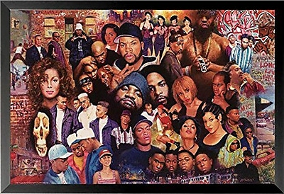 East Urban Home 'Legends of Rap and Hip Hop 80's and 90's' Framed Graphic Art Print Poster