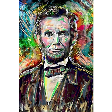 East Urban Home 'Abe Lincoln' by Pat Spark Graphic Art Print on Wrapped Canvas; 60'' H x 40'' W