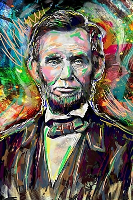 East Urban Home 'Abe Lincoln' by Pat Spark Graphic Art Print on Wrapped Canvas; 36'' H x 24'' W