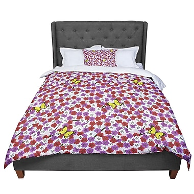 East Urban Home Setsu Egawa Cherry Blossom and Butterfly Comforter; Twin