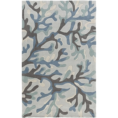 Highland Dunes Cherrywood Hand-Tufted Blue/Brown Area Rug; 2' x 3'