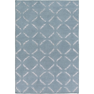 Highland Dunes Chesterton Hand Woven Blue Area Rug; 4' x 6'