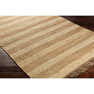 Highland Dunes Charlemont Hand-Woven Brown/Neutral Area Rug; 5' x 7'6''