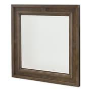Gracie Oaks Baford Square Wood Framed Wall Mirror