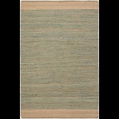 Highland Dunes Charlemont Hand-Woven Teal/Khaki Area Rug; 4' x 6'