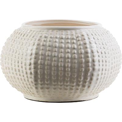 Highland Dunes Bud Ceramic Table Vase; White