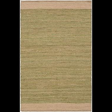 Highland Dunes Charlemont Hand-Woven Grass Green/Khaki Area Rug; 4' x 6'