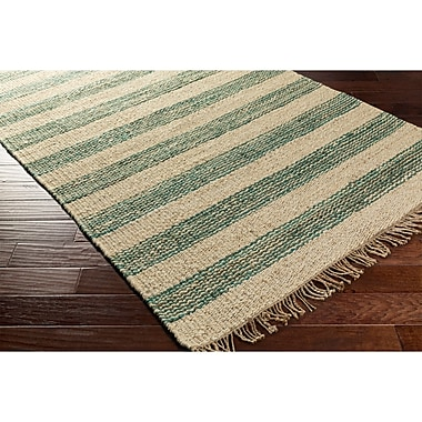 Highland Dunes Charlemont Hand-Woven Blue/Neutral Area Rug; 8' x 10'