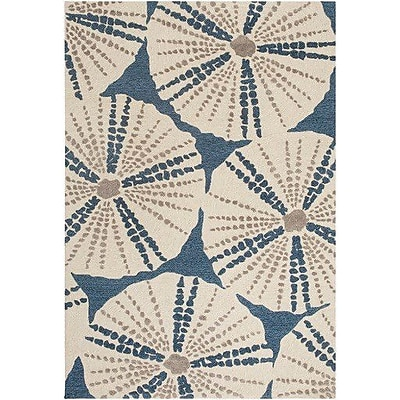 Highland Dunes Claiborne Hand-Hooked Blue/Brown Area Rug; 5' x 7'6''