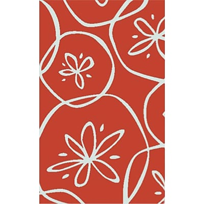 Highland Dunes Charlestown Hand-Tufted Bright Orange/Ivory Area Rug; 8' x 10'