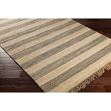 Highland Dunes Charlemont Hand-Woven Gray/Neutral Area Rug; 8' x 10'