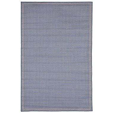 Highland Dunes Clatterbuck Texture Blue Indoor/Outdoor Area Rug; 1'11'' x 2'11''