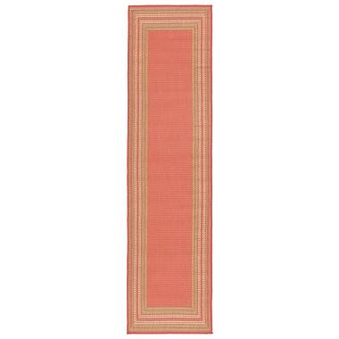 Highland Dunes Clatterbuck Etched Pink Indoor/Outdoor Area Rug; Runner 1'11'' x 7'6''