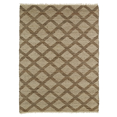 Highland Dunes Coatsburg Grey/Chocolate Area Rug; 2' x 3'