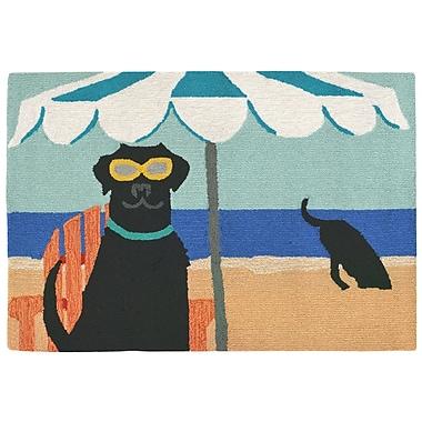 Highland Dunes Mollett Hand-Tufted Blue Indoor/Outdoor Area Rug; 2'6'' x 4'