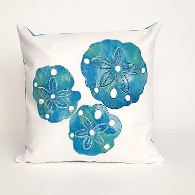 Highland Dunes Clarkstown Sand Dollar Throw Pillow; Blue