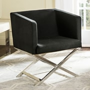 Willa Arlo Interiors Cammi Arm Chair; Black Fabric