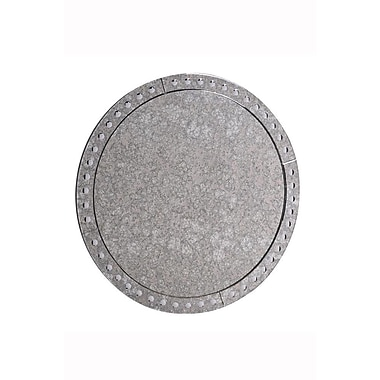 Rosdorf Park Traditional Gray Round Wall Mirror