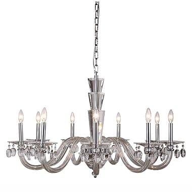 Rosdorf Park Felisa 9-Light Chain Candle-Style Chandelier