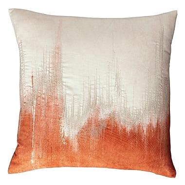 Varick Gallery Whitham Throw Pillow; Orange
