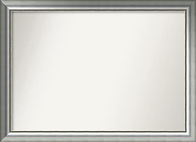 Willa Arlo Interiors Burnished Silver Wood Wall Mirror; 33.75'' H x 46.75'' W x 1.5'' D WYF078281673108