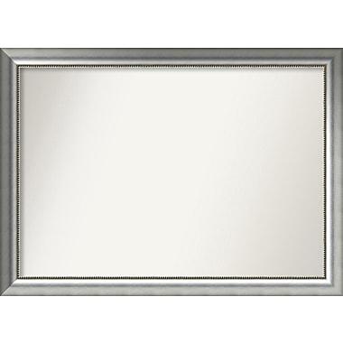 Willa Arlo Interiors Burnished Silver Wood Wall Mirror; 33.75'' H x 46.75'' W x 1.5'' D