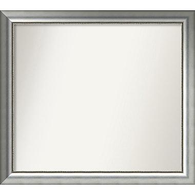 Willa Arlo Interiors Burnished Silver Wood Wall Mirror; 33.75'' H x 37.75'' W x 1.5'' D