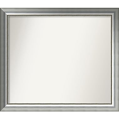 Willa Arlo Interiors Burnished Silver Wood Wall Mirror; 33.75'' H x 38.75'' W x 1.5'' D