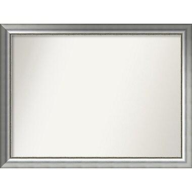 Willa Arlo Interiors Burnished Silver Wood Wall Mirror; 33.75'' H x 44.75'' W x 1.5'' D