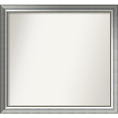 Willa Arlo Interiors Burnished Silver Wood Wall Mirror; 35.75'' H x 38.75'' W x 1.5'' D
