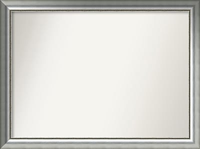 Willa Arlo Interiors Burnished Silver Wood Wall Mirror; 34.75'' H x 46.75'' W x 1.5'' D WYF078281673157